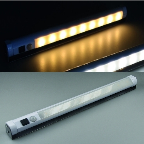 led unterbauleuchte mit bewegungsmelder warmwei batterie 9 leds lampe ebay. Black Bedroom Furniture Sets. Home Design Ideas