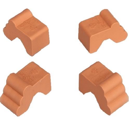 Euro3Plast Füßchen Piedino, 4 Stück, terracotta, Pflanzkübel Füße ...