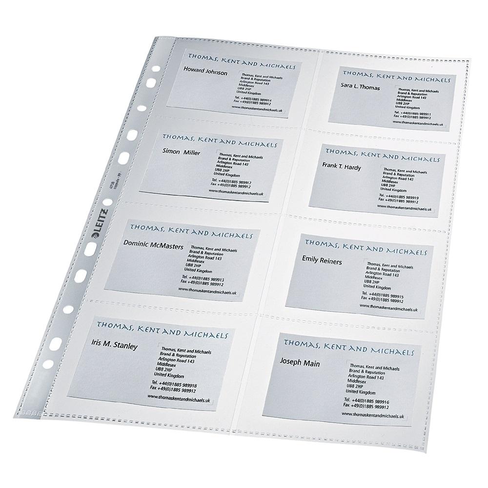 Durable Visitenkarten-Hüllen für 10 Karten Kartenhülle A4 10 Hüllen