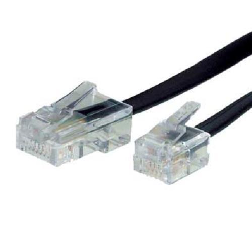 Telefonkabel, RJ45 - RJ11 Stecker, 10 m, DSL Splitter Router Modem ...