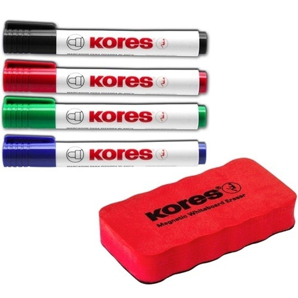 2x Whiteboard magnetisch Schwamm 3x Stift  für Weißwandtafel Eraser Löscher