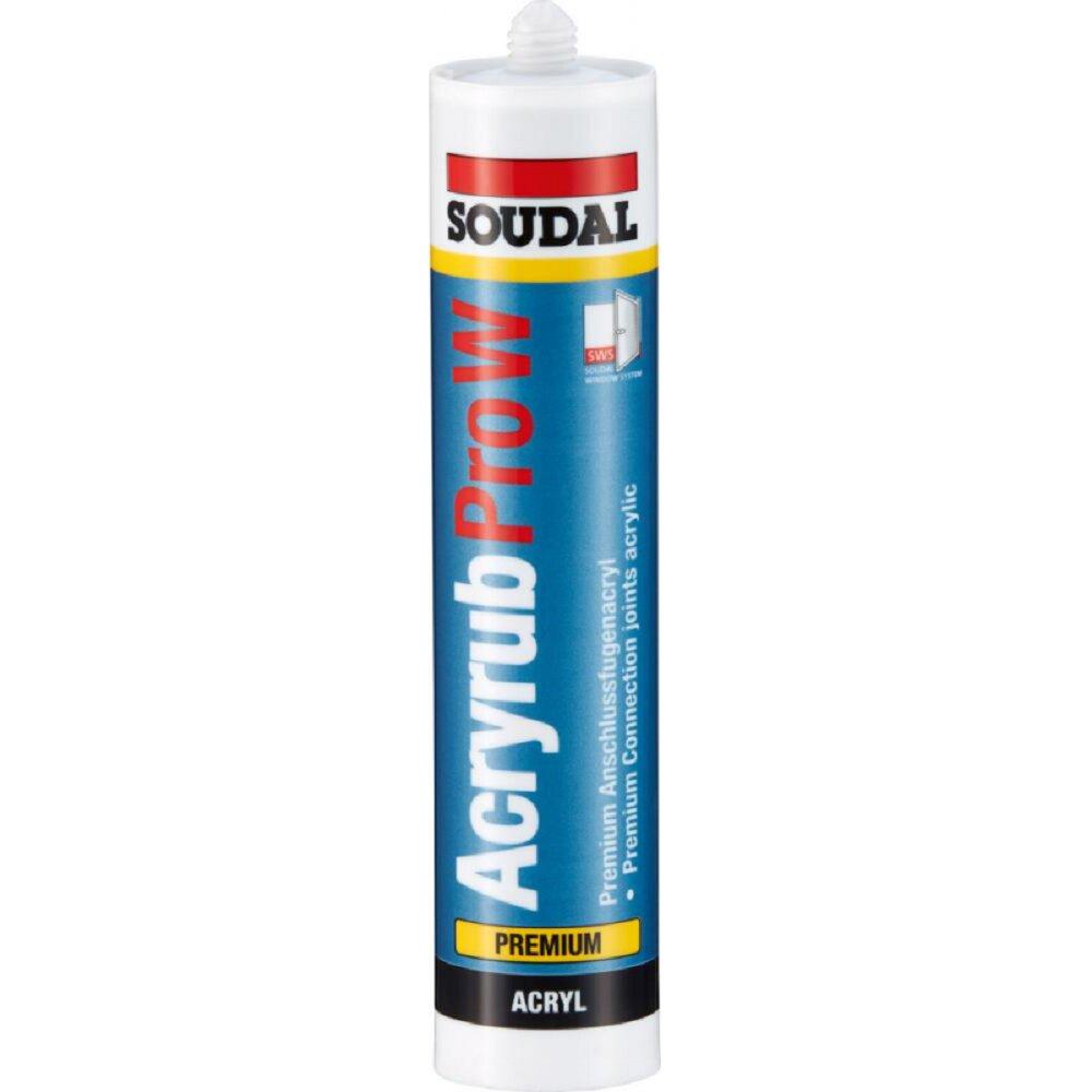 soudal acryrub acryl dichtmasse, 310 ml, braun, kartusche