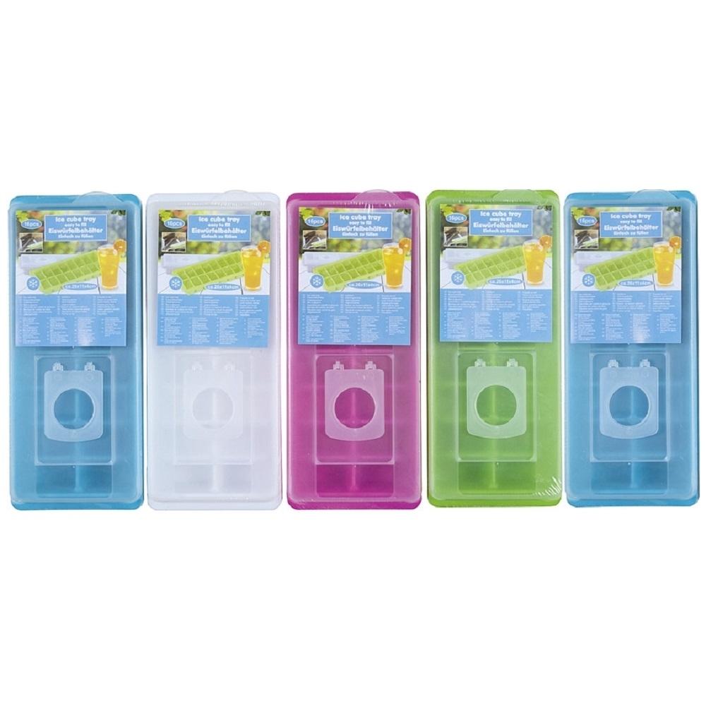 5 Eiswürfelbehälter mit Deckel, farbig sortiert